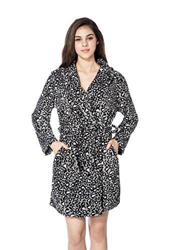 Donna con diverse di in da Nero bathrobe coral accappatoi Bathrobe Bagno Fralosha regolabile Casa accogliente Accappatoio accappatoio dimensioni velvet 100 xPOFnwqEv0
