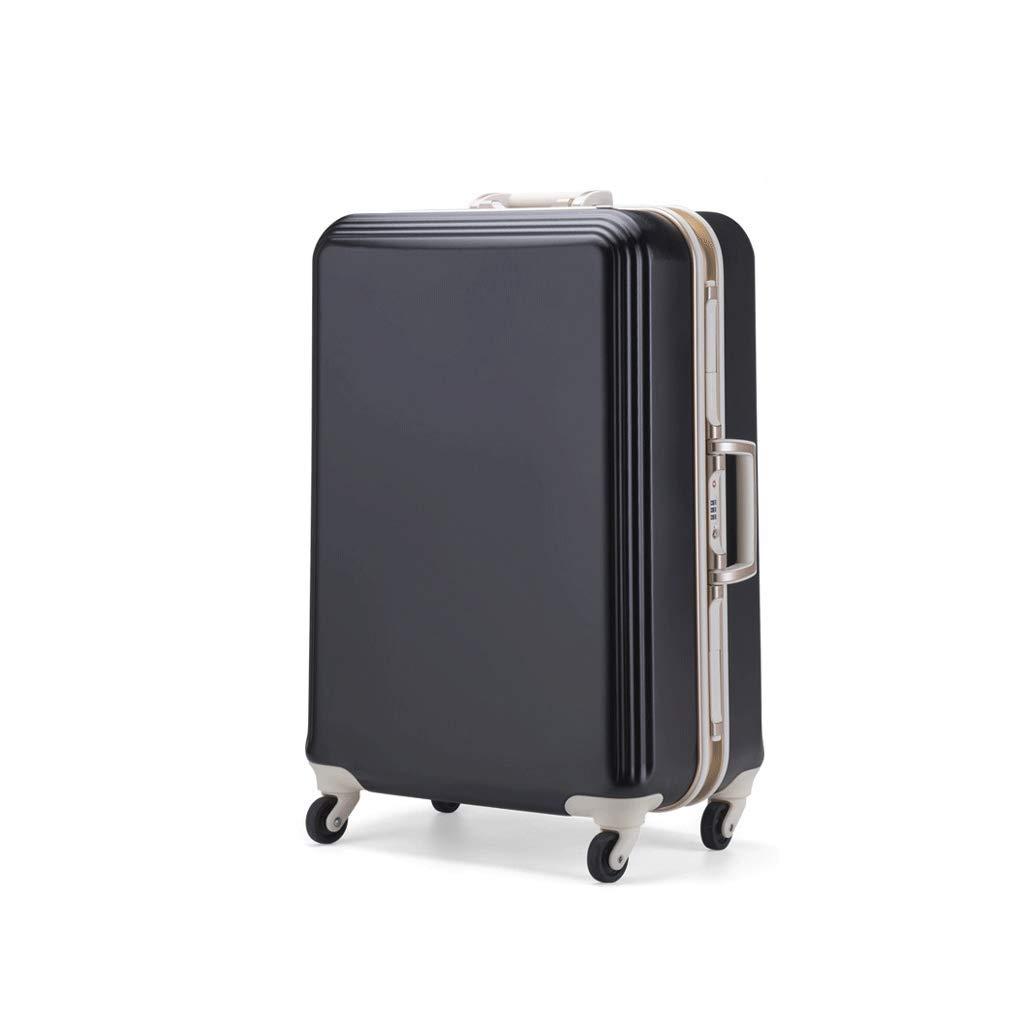 ラゲージボックス、アルミフレームトローリーケースユニバーサルホイールパスワードボックス搭乗用スーツケース耐摩耗性と耐引掻き性、シンプルでスタイリッシュな、ブラック (サイズ さいず : 49X33.5X76CM)   B07JPGGVCM