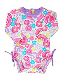 RuffleButts Baby/Toddler Girls UPF 50+ S...