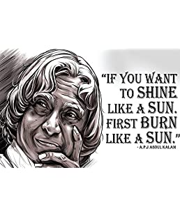 100yellow Paper Abdul Kalam Motivational Quotes Poster for Kids Room, 12x18 Inches(Multicolour, abdul-kalam-poster-0003)