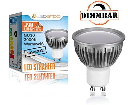 chrom // geb/ürstet warmweiss 5W DIMMBAR mit LED GU10 Markenstrahler von LEDANDO LED Aufbauleuchte Zylinder 35W Ersatz 110/° Abstrahlwinkel 3er IP44 LED Aufbaustrahler Set Bicolor Feuchtraum // Badezimmer