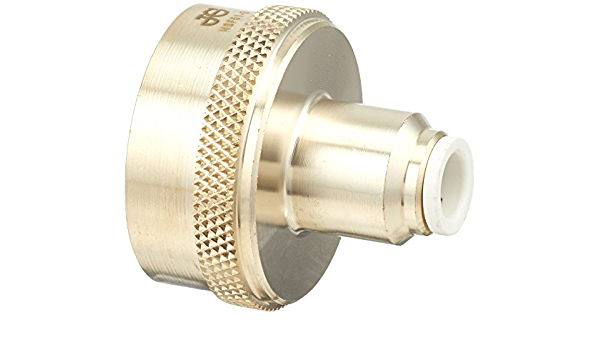 NUZAMAS 3//4 Inch to 1//2 inch Female and Male Set Garden Hose Toilet Bathroom Kitchen Laundry Room Pipe Thread Brass Adapter