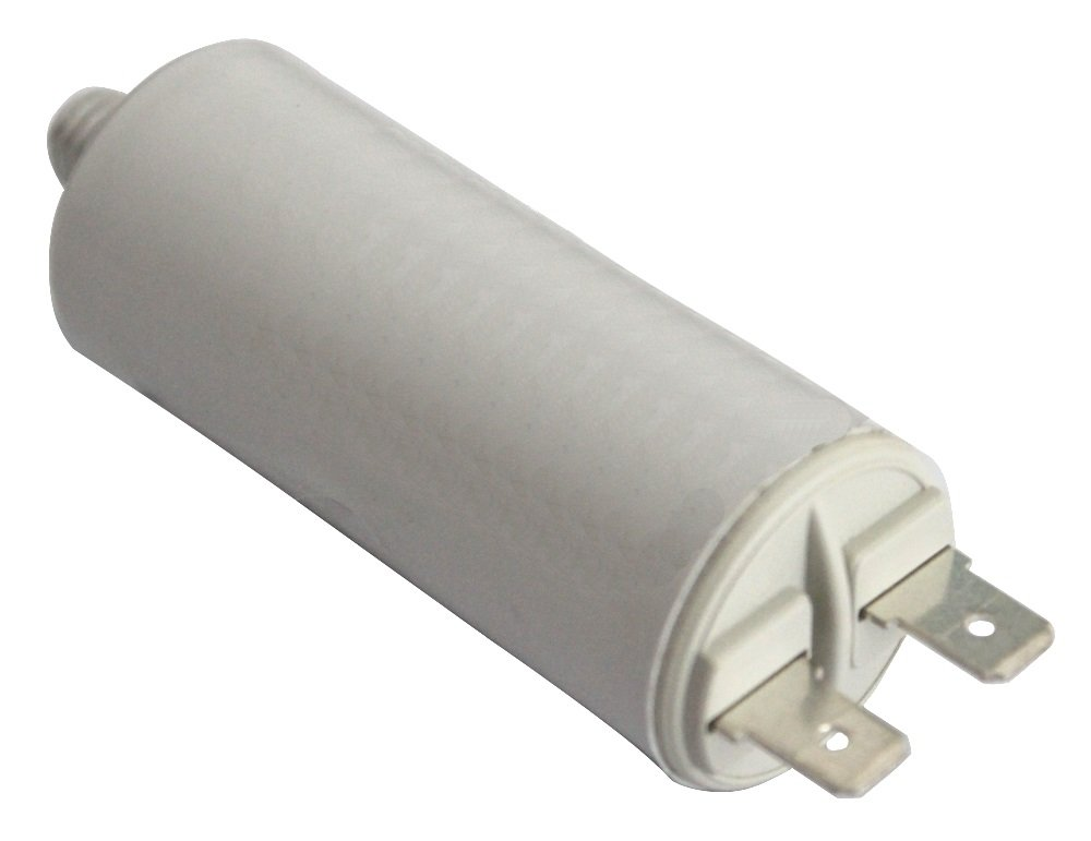 Aerzetix Kondensator st/ändigen Arbeitsprogramm f/ür Motor 8/µF 425V mit 6,3 mm Anschl/üssen