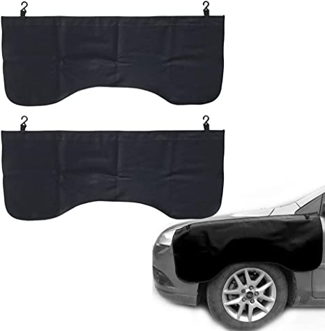L Car Fender Wing Mud Guard Cover Auto Repair Protection Cover Mechanic Magnetic Cover Mat Pad 3pcs