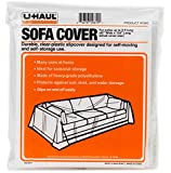 "U-Haul Moving & Storage Sofa Cover (Fits Sofas up to 8' Long) - Water Resistant Plastic Sheet Couch Protection - 134"" x 42"""