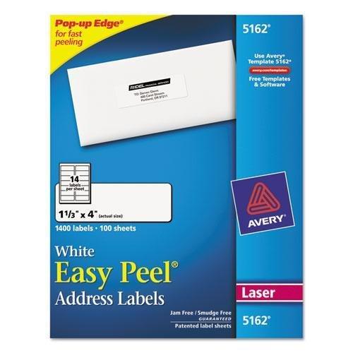Amazon Avery 5162 Easy Peel Address Label Computers Accessories