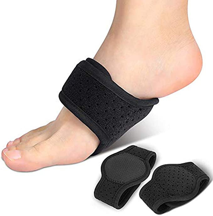 US Arch Support Plantar Fasciitis Flat Feet Orthotics Sleeves With Cushion-Beige