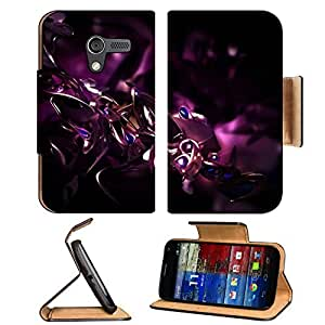 3D View Abstract Purple Cgi K3 Studio Motorola Moto X Flip Case Stand Magnetic Cover Open Ports Customized Made to Order Support Ready Premium Deluxe Pu Leather 5 7/16 Inch (138mm) X 3 1/16 Inch (78mm) X 9/16 Inch (14mm) MSD Mobility cover Professional Mo