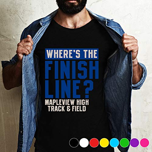 Track Wheres The Finish Line Mapleview High Track & Fie I think that he is wrong when he describes track and field T Shirt Long Sleeve Sweatshirt Hoodie For Best Time