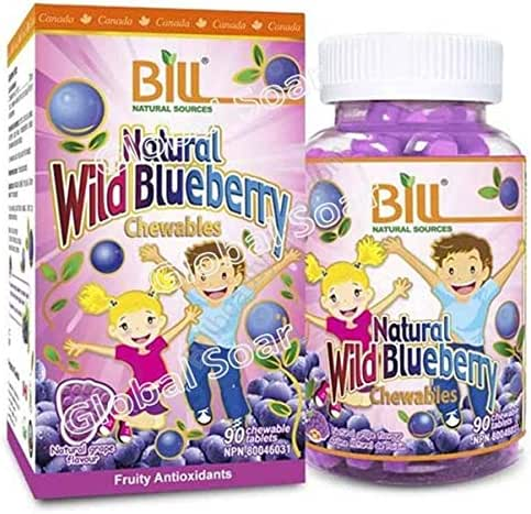 Bill Natural Sources Natural Wild Blueberry, 90 Chewable tablets