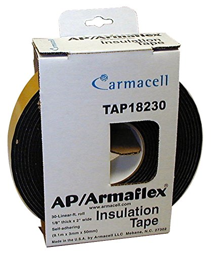 """Armacell TAP9584000 Armaflex Insulation Tape, 1/8"""" Thick, 30"""