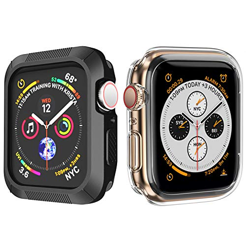 - OUPODE Compatible with Apple Watch Case Series 4 40mm, Soft TPU Bumper Case Compatible with iWatch Cover, Replacement for Apple Watch Protector Series 4, Clear