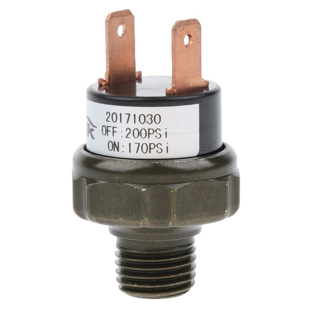 Sharplace Compresores para Aplicaciones de Bocina de Aire y Suspensi/ón de Auto Negro 170-200psi