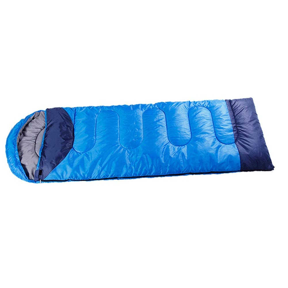 ALXLX Sac de Couchage de Camping Enveloppe pour Adulte, Sac léger et Confortable, Design imperméable Compact, Sac de Compression pour activités de Plein air (Couleur : Bleu)