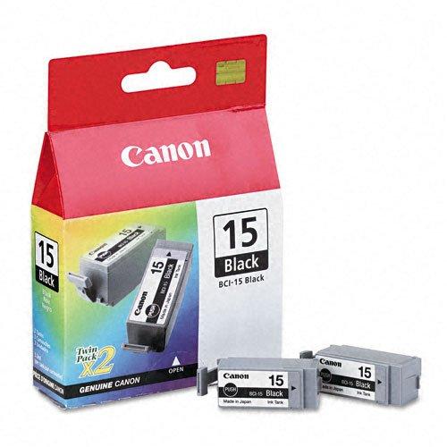 [Canon® BCI15BK (BCI-15) Ink Tank, 130 Page-Yield, 2/PK, Black] (Canon I80 Inkjet)