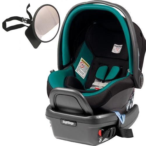 Peg Perego – Primo Viaggio 4-35 Car Seat w Back Seat Mirror – Aquamarine For Sale
