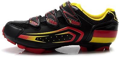 Tiebao - Zapatillas de Ciclismo para Hombre, Color Negro, Talla 44 ...
