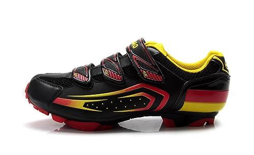 Tiebao Zapatillas de Ciclismo Para Hombre, Color Negro, Talla 44: Amazon.es: Zapatos y complementos