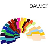 DALUCI 20Pcs Flash Speedlite Color Gel Filters for Canon Nikon Sony Yongnuo DSLR Camera