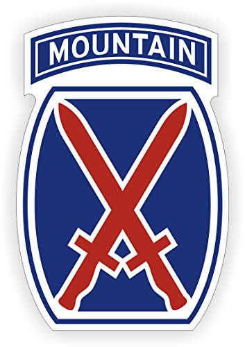 10th Mountain Division Hard Hat Decal | Motorcycle Helmet Sticker | Army Military USA (Division Military Hat)