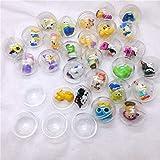 Beelegalaz 30pc/Pack Diameter 2.8cm Clear Plastic Capsules Toy Balls Different Figure Toys Mini Dolls Mix Vending Machine
