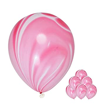 Amazon Com Pink Agate Marble Balloons 12 40pcs Agate Color Marble