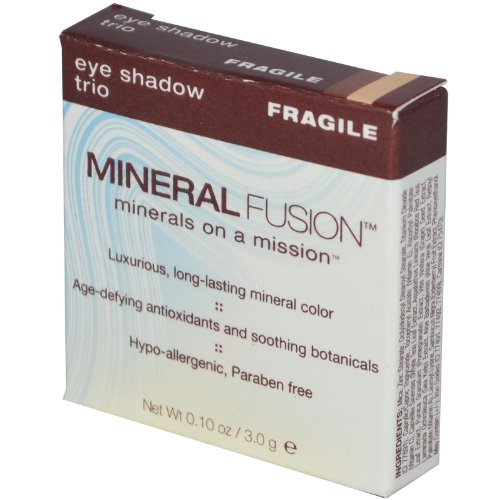 Mineral Fusion, Eye Shadow Trio, Fragile, 0.10 oz  by Minera