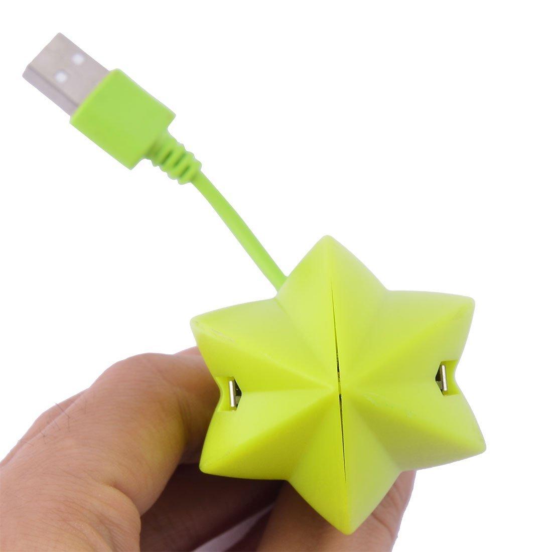 Amazon.com: eDealMax PC 4 puertos USB 2.0 Hub Forma Carambola alta velocidad de transferencia de datos de Puertos del Divisor de la luz Verde: Electronics