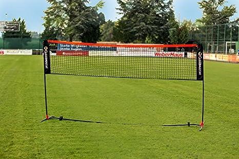 elastischer St/änder f/ür drau/ßen Badmintonnetz,Tennisnetz,3-5 m tragbares All-in-One-Kombinationsnetz mit 3 h/öhenverstellbaren Volleyballnetzen f/ür Kinder und Erwachsene,Zusammenklappbarer Garten,Strand