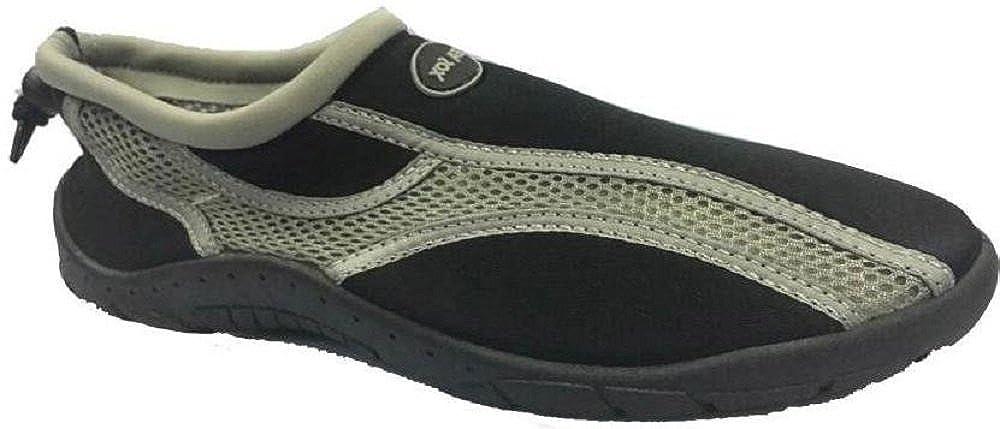 Mens Waterproof Water Shoes Aqua Socks Beach Pool Yoga Exercise Boating Surf Mesh Adjustable Toggle