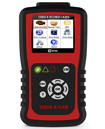 Kzyee KC401 OBDII OBD2 Scanner ABS Diesel or Gas Engine Diagnostic Code Reader on 12V SUV MPV LD Medium Duty Truck Support CANBUS ISO J1850 Protocols