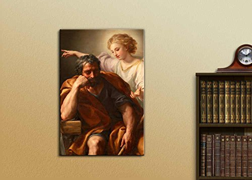 The Dream of St Joseph by Anton Raphael Mengs Print Famous Oil Painting Reproduction