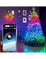 DBSCD Decorative lights,Waterproof Colour Changing Fairy Led Lights for Christmas Tree Decoration,Smart App Controlled Lights,Christmas Tree Decoration Lights with Music -