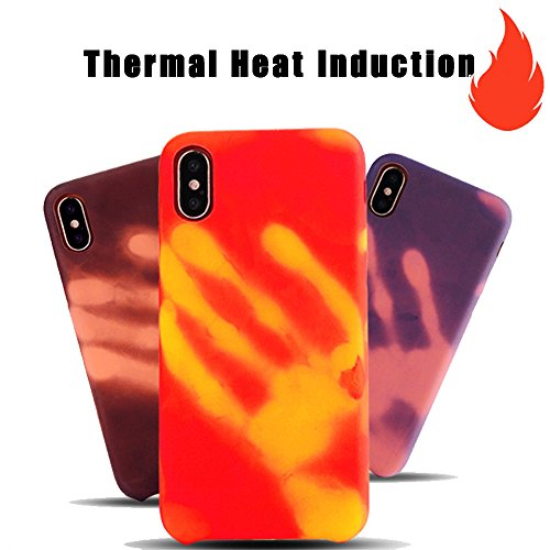 Price comparison product image iPhone X Case,Sunbona Thermal Sensor Physical Discoloration Softphone Case For Apple iPhone X (Purple)