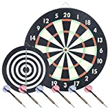 Trademark Global 15-2004 Game Room Dartboard Set with 6 Darts