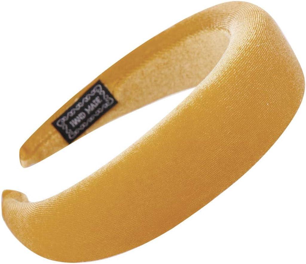 ITISME Cerchietti in Velluto Fascia per Capelli Color Oro con Fascia in Spugna Color Caramella Morbido Tinta Unita Accessori per Capelli Elegante per Donna Ragazze