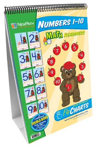 NewPath Learning Numbers 1-10 Curriculum Mastery Flip Chart Set, Early Childhood