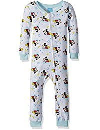 Baby Boys Mickey Mouse Cotton Non-Footed Pajama, White Dream