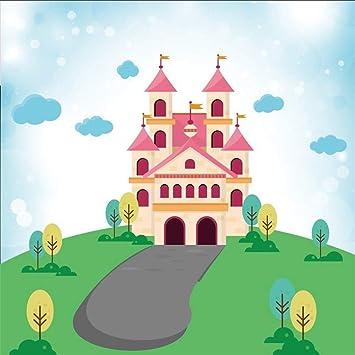 MMPTn 5x5ft Cartoon Road to Princess Castle Telón Fondo para ...