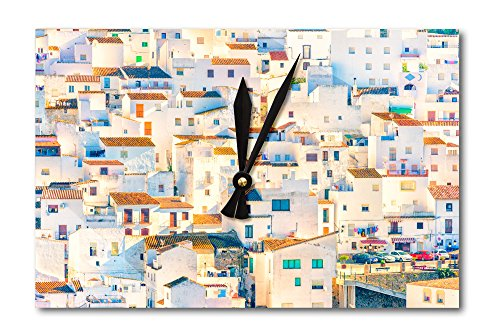 Casares Spanish Villas, Southern Spain (Acrylic Wall Clock) by Lantern Press