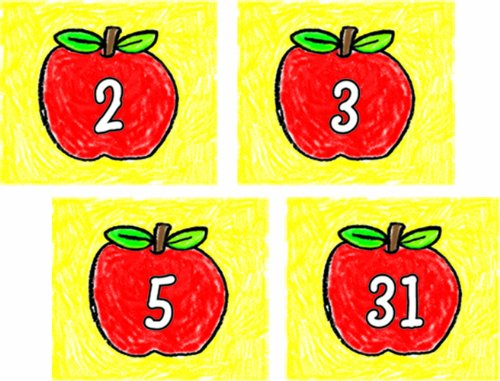 Carson Dellosa Apples: Kid-Drawn Calendar Cover-Up (5431)