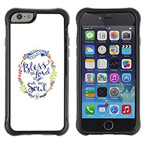 WAWU Funda Carcasa Bumper con Absorci??e Impactos y Anti-Ara??s Espalda Slim Rugged Armor -- bless you god minimalist white text -- Apple Iphone 6 PLUS 5.5