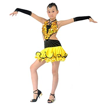 11c699d9df8c Byjia Children Sequins Tassel Latin Dance Competition Clothing ...