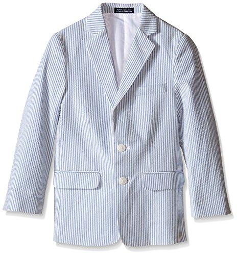Nautica Big Boys' Seersucker Jacket, Medium Blue, 20 (Cotton Jacket Seersucker)