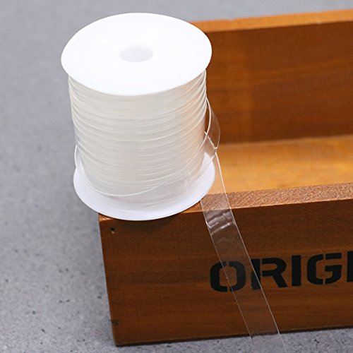 HUELE Clear Bra Strap Elastic Stretchy Lightweight Elastic for Cloth Sewing Project , 10 Meters
