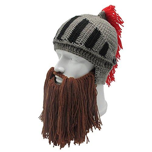 Amazon.com  ZGZY Beard Hat Beanie Knit Hat Barbarian Warrior Knight Hat  Halloween Viking Rome Bearded Caps Windproof for Men   Women Tentacle  Crochet hat ... 663d3a41c8