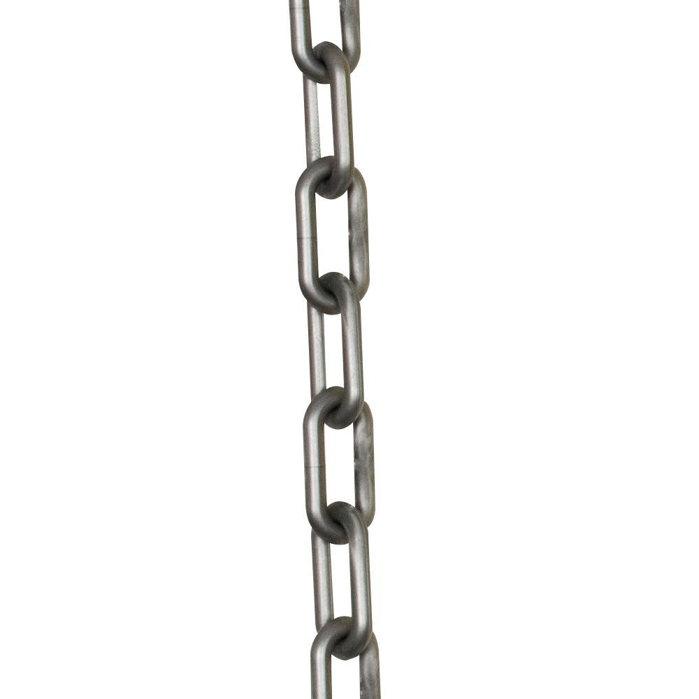 Mr. Chain Plastic Barrier Chain, Silver, 2-Inch Link Diameter, 25-Foot Length (50008-25)