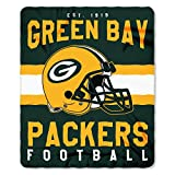 NFL Green Bay Packers Printed Fleece Throw, One Size, Multicolor