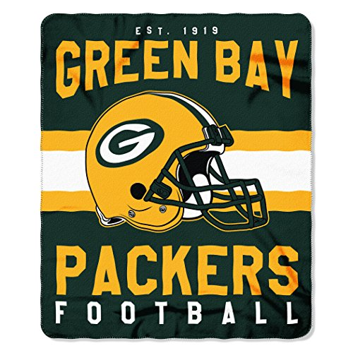 The Northwest Company NFL Green Bay Packers Singular Fleece Throw, 50-inch by 60-inch, -