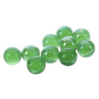TOOGOO(R) 10 pz Marmi biglie vetro 16mm Giocattoli decorazione sfere di vetro di Knicker - verde